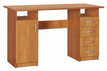 Psací stůl GENTOFTE 4 zásuvky b. olše (1700,-) 125x75x60