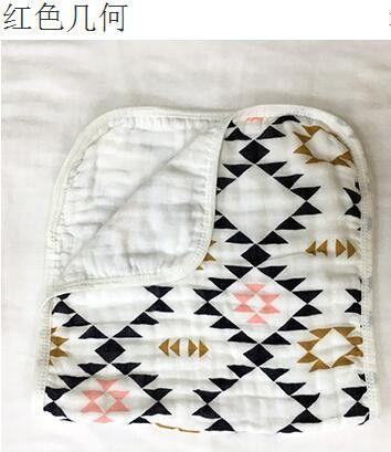 Super soft pattern cute100% Muslin cotton gauze 3 layers baby bath towel baby hand towel newborn handkerchief small face towel