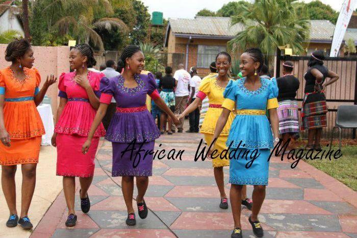 Bridesmaids-Sepedi traditional weddin-S.A
