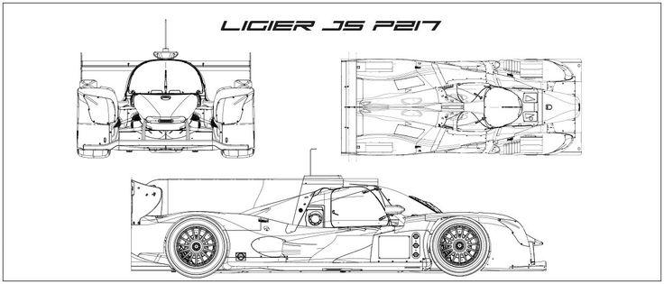 Ligier JS P217 Diagram, Drawings, Cars