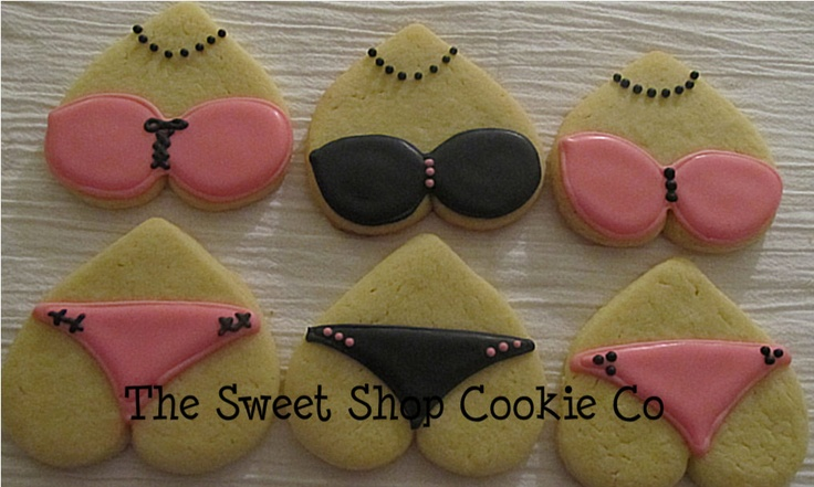 Bachelorette Party Cookies 1 dozen. $19.95, via Etsy. Home baked of course.