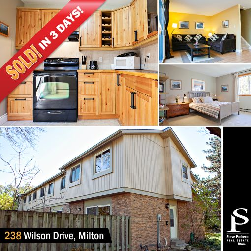 SOLD in 3 DAYS! 238 Wilson Drive, Milton, ON