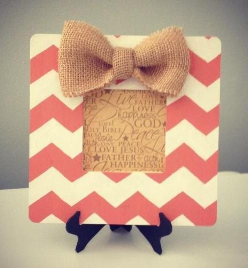 Hand Painted Chevron Picture Frame by SassyPrassGifts on Etsy