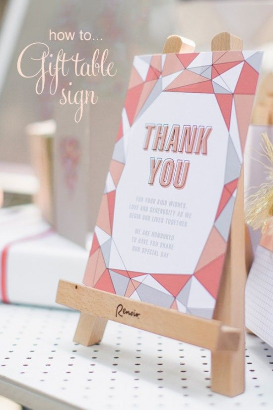 20 diy wedding ideas free printable gift table sign whats a nicer