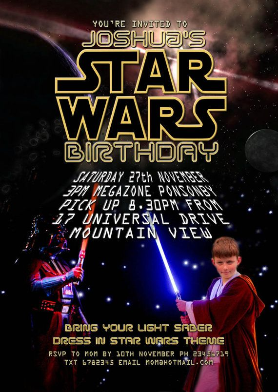11 best star wars party: invitation images on pinterest | star, Party invitations