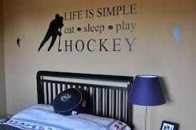My son would like this. hockey themed bedrooms - Google Search