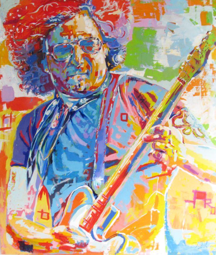 """Bohemio """"Andres Calamaro"""" 200 x 170 centímetros Pintura: Acrílico en Lienzo Autor: Fabal"""