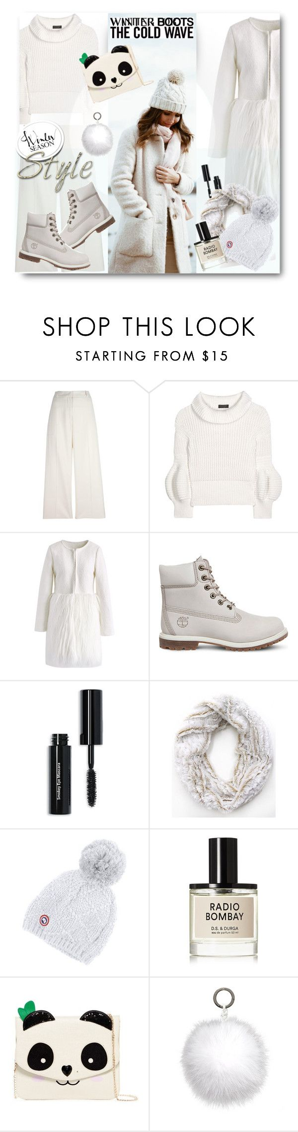 """Cozy Winter Boots"" by esch103 ❤ liked on Polyvore featuring Ermanno Scervino, Burberry, Chicwish, Timberland, Bobbi Brown Cosmetics, Canada Goose, D.S. & DURGA, Betsey Johnson, Oscar de la Renta and winterboots"