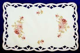Elegant Table Linen Burgundy Rose Placemat