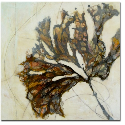 "Alicia Tormey _ Specimen I  2010  encaustic with mixed media  18"" x 18"""