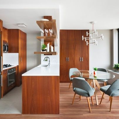 Wood Flooring And Teak Cabinetry Mid Century Modern Kitchens Design Ideas,  Pictures, Remodel, And Decor   Page 69