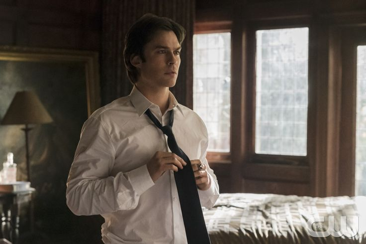 """The Vampire Diaries -- """"Let Her Go"""" -- Image Number: VD615a_0006.jpg -- Pictured: Ian Somerhalder as Damon -- Photo: Tina Rowden/The CW -- ©2015 The CW Network, LLC. All rights reserved.pn"""