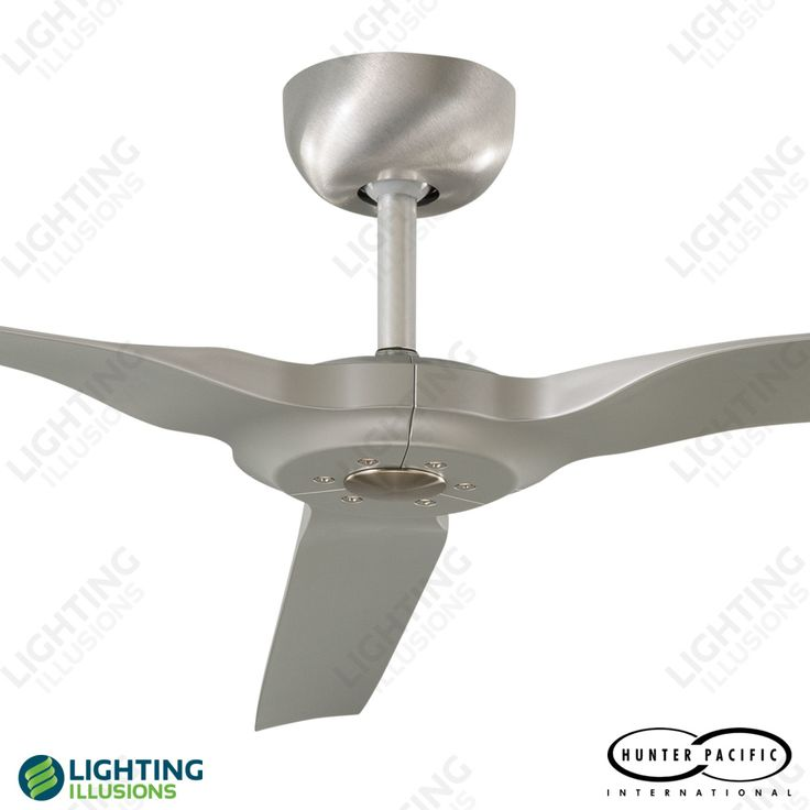 """Brushed Aluminium Radical Indoor/Outdoor 60"""" 3 Blade DC Ceiling Fan With Remote"""