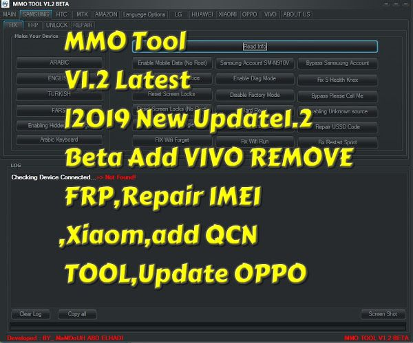 MMO Tool V1 2 Latest |2019 New Update1 2 Beta Add VIVO REMOVE FRP