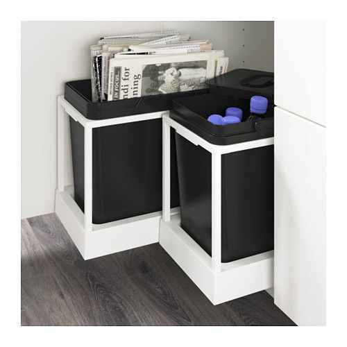 UTRUSTA Pull-out recycling bin tray  - IKEA - $34 plus the bins (tops $10) we should get 2 for under the sink maybe