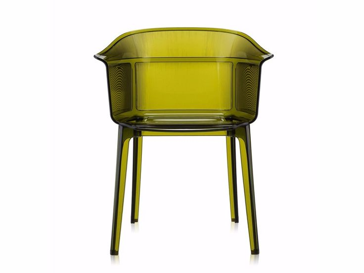 Chaise empilable en polycarbonate avec accoudoirs PAPYRUS by Kartell