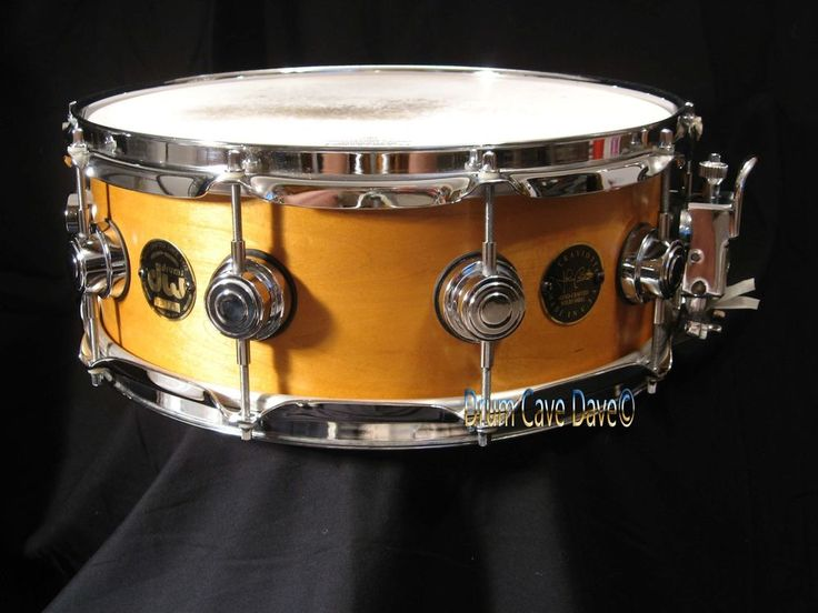 """1998 DW DRUM WORKSHOP CRAVIOTTO 5X14"""" 1 PLY SOLID MAPLE SNARE DRUM, SIGNED! #DW"""
