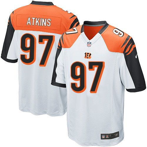 Nike Limited Geno Atkins White Youth Jersey - Cincinnati Bengals #97 NFL Road