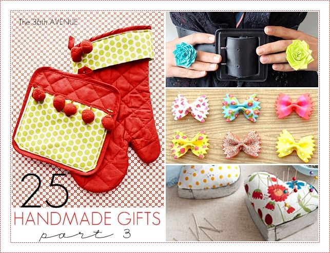 25 Handmade Gifts for around 5 dollars at the36thavenue.com
