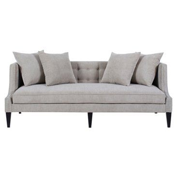 "Check out this item at One Kings Lane! Molly 82"" Tufted Sofa, Gray"