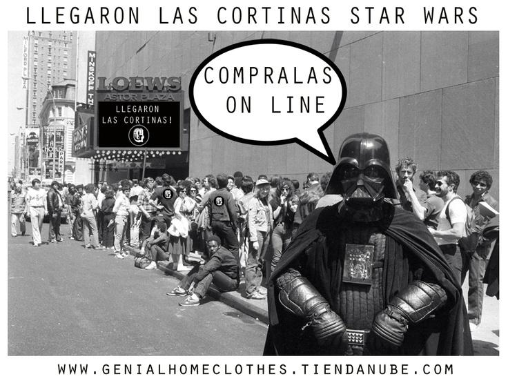 Llegaron las Cortinas STAR WARS!  Podes verlas en www.genialhomeclothes.tiendanube.com