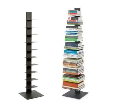 Stacked Vertical Bookcase - Black