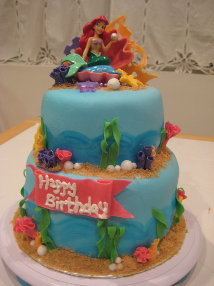 17 best images about the little mermaid cakes on pinterest for Ariel cake decoration