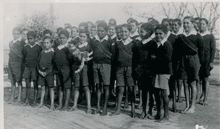 Their motives were to 'inculcate European values and work habits in children, who would then be employed in service to the colonial settlers' (Ramsland 1986 quoted by Mason 1993, p.31). In 1814 Governor Macquarie funded the first school for Aboriginal children. Its novelty was an initial attraction for Indigenous families but within a few years it evoked a hostile response when it became apparent that its purpose was to distance the children from their families and communities.