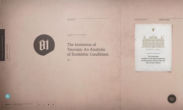 The Grand Budapest Hotel Experience Site by Watson, via Behance