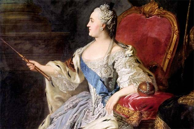 Doppelganger stories - including Catherine the Great, Empress of Russia, who have seen her doppelganger sitting calmly on her throne.