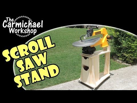 DIY Scroll Saw Stand for the DeWalt DW788 (Woodworking Shop Project) - YouTube