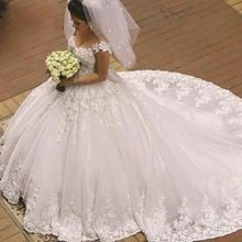 Off ombro vestidos de casamento árabes vestido de baile Long Train Caftan Dubai vestido de noiva Kaftan(China (Mainland))