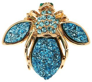Joan Rivers Simulated Drusy Bee Pin - QVC.com