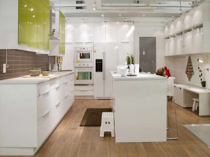 Spectacular Floor Kitchen Renovation Ikea Kitchen Planner With Dark Brown Wooden Flooring Also Tracking Lamps And