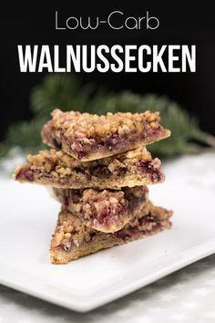Die low-carb Walnussecken sind super lecker und außerdem noch glutenfrei. Sie schmecken auch nicht nur zur Weihnachtszeit.
