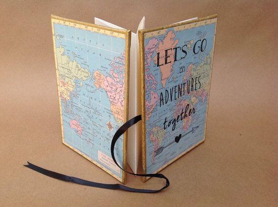 Adventure book gift for friend from FreeRangeBookbinding on Etsy – Travel
