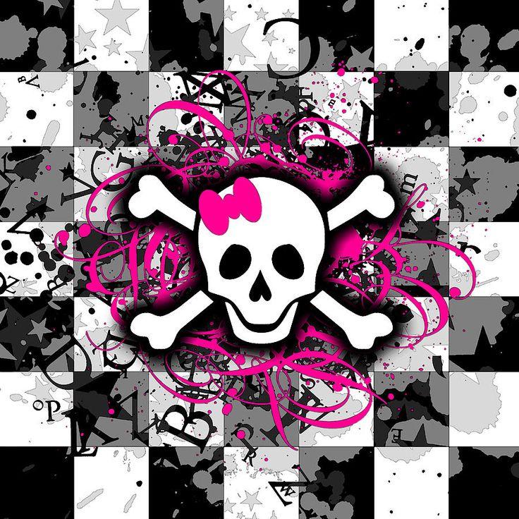 Google Image Result for http://images.fineartamerica.com/images-medium-large/splatter-girly-skull-roseanne-jones.jpg