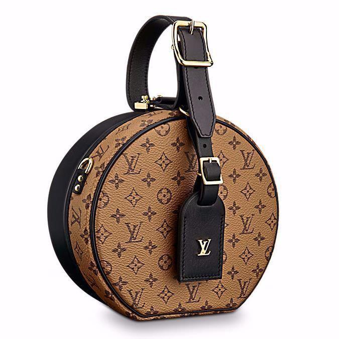 f42ed71c6 Louis Vuitton PETITE BOITE CHAPEAU Reverse Monogram Mini Hat Box Cruise bag  NEW | eBay