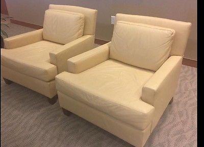 hbf modern buttercream leather chairpriced each chair