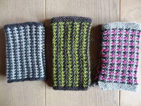 Tweed stitch knitting
