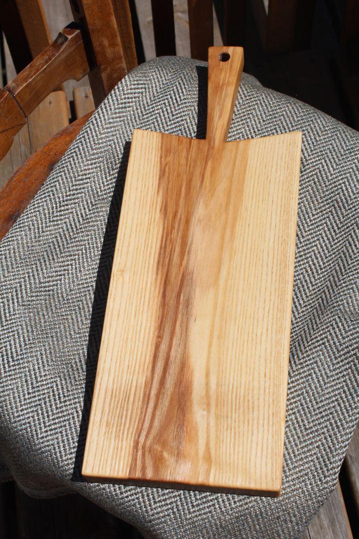 Handcrafted Wood Bread Board/Cheese Board or Charcuterie Board by HappyKnotsDesigns on Etsy https://www.etsy.com/ca/listing/455692630/handcrafted-wood-bread-boardcheese-board