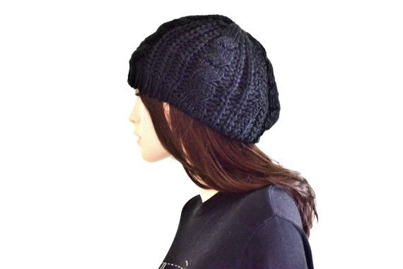 Cool knitted Black Beanie Beanies for Women Cool by SassyandCool