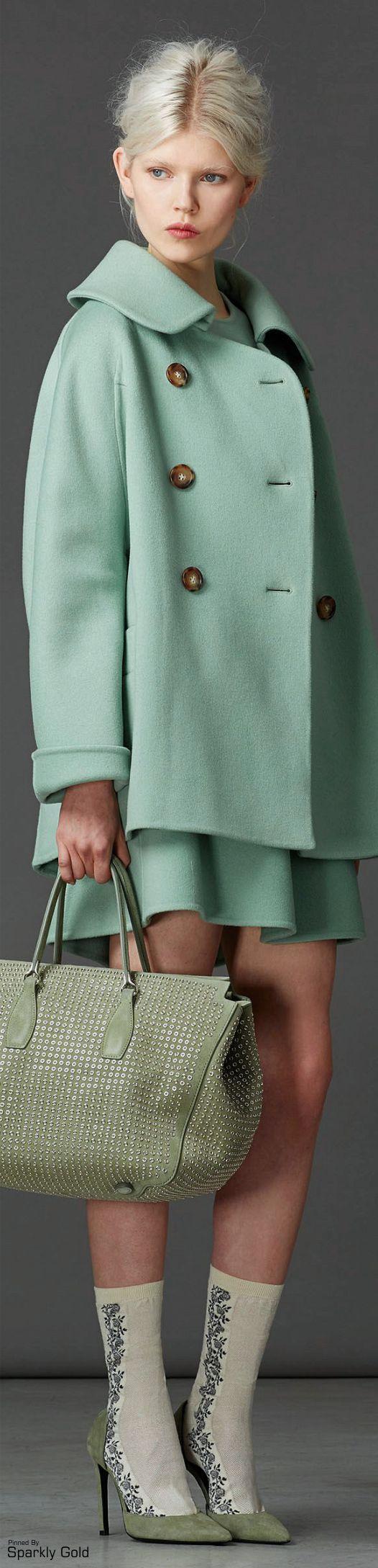 Light mint green   fashion, over coat   Ermanno Scervino F/W 2014