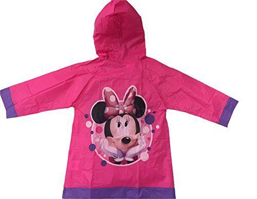 Disney Minnie Mouse Girls Rain Slicker Raincoat Going Dotty *** To view further, visit