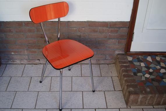 1960s Formica Chair Orange Formica Chair Mid Century Chair Kitchen