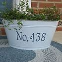 house numbers: Outdoor Ideas, Craft, Gift Ideas, Outdoors, Gardening, Galvanized Bucket, House Numbers