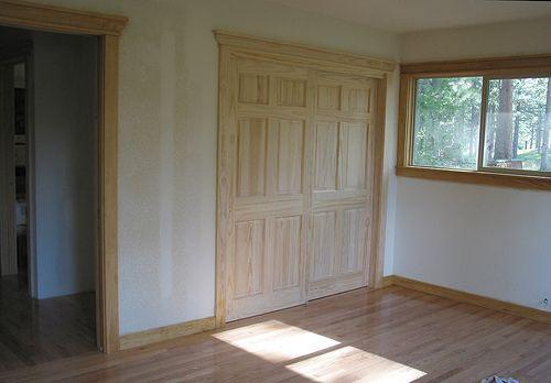 Wood closet doors bypass closet door ideas pinterest for The wood idea flooring doors ltd