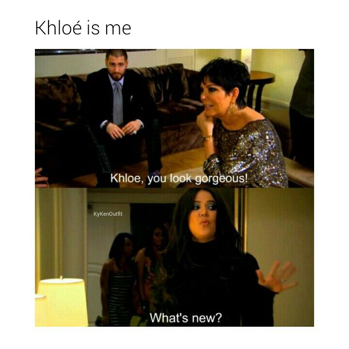 This is why I love Khloé. She's hilarious!   Follow @kykenoutfit for more.