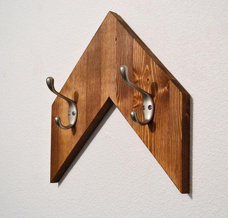 Wooden arrow,Rustic Double Coat/Hat hanger,Coat Rack,Key holder,Entry way hanger,robe hook,hanger by DoveMeadowDesigns on Etsy