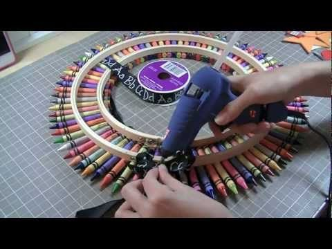 Video: How to make a Crayon Wreath